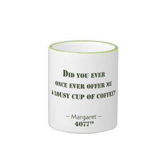 Lousy Cup of Coffee Ringer Coffee Mug