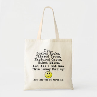 Lousy smiley! budget tote bag