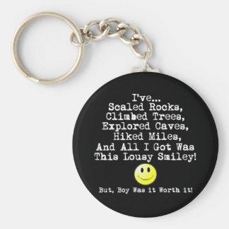 Lousy smiley! keychain