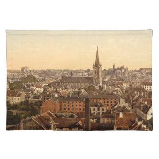 Louvain Cityview, Belgium Cloth Placemat