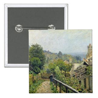 Louveciennes o, las alturas en margoso, 1873 pin cuadrada 5 cm