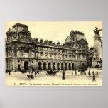 Louvre 1905, París del vintage, Francia Impresiones