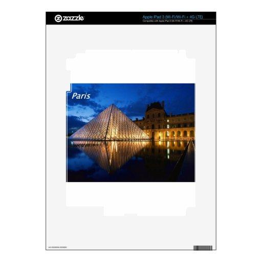 Louvre-en--noche [kan.k] .JPG iPad 3 Pegatina Skin