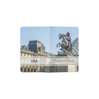 Louvre Horse Statue, Paris Travel Photograph Pocket Moleskine Notebook Cover With Notebook