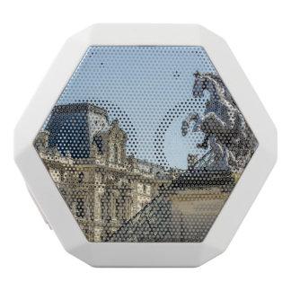 Louvre Horse Statue, Paris Travel Photograph White Bluetooth Speaker