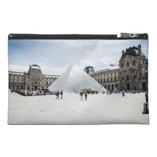 Louvre in white winter Paris Travel Accessory Bag