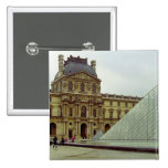 Louvre museum pinback button
