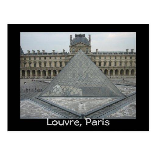 Louvre museum postcards