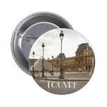 Louvre. Paris, France Pinback Button