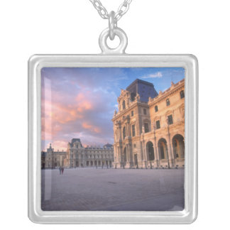 Louvre, Paris, France Silver Plated Necklace