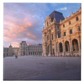 Louvre, Paris, France Large Square Tile