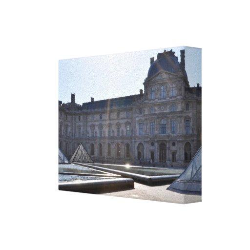 Louvre, París Francia Impresión En Lona