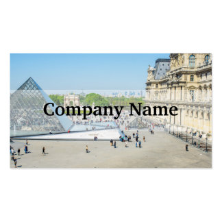 Louvre Pyramid and Palace in Paris Double-Sided Standard Business Cards (Pack Of 100)