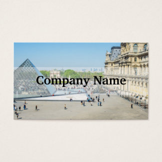 Louvre Pyramid and Palace in Paris Business Card