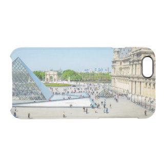 Louvre Pyramid and Palace in Paris Clear iPhone 6/6S Case