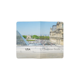 Louvre Pyramid and Palace in Paris Pocket Moleskine Notebook Cover With Notebook