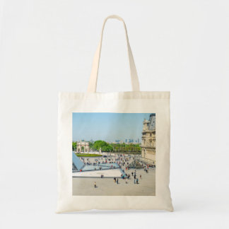 Louvre Pyramid and Palace in Paris Tote Bag