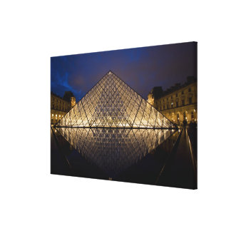 Louvre Pyramid by the architect I.M. Pei at Canvas Print