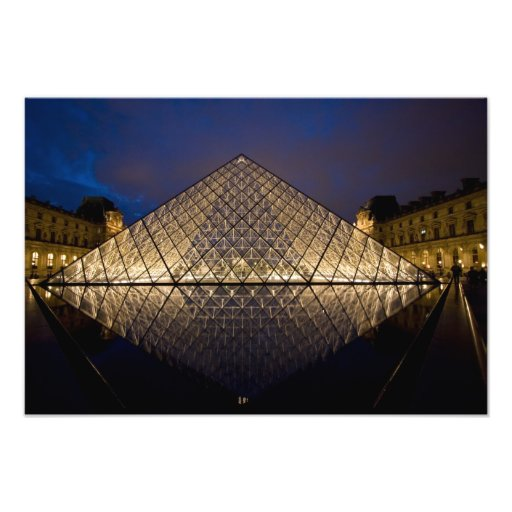 Louvre Pyramid by the architect I.M. Pei at Art Photo