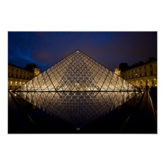 Louvre Pyramid by the architect I.M. Pei at Poster