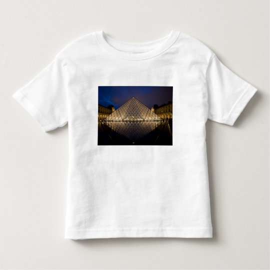 Louvre Pyramid by the architect I.M. Pei at Toddler T-shirt