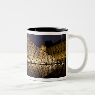 Louvre Pyramid by the architect I.M. Pei at Two-Tone Coffee Mug