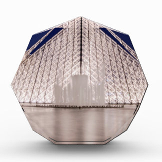 louvre pyramid france paris at night award