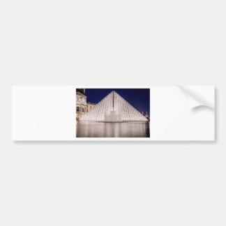louvre pyramid france paris at night bumper sticker