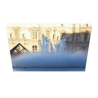 LOUVRE PYRAMID PARIS Stretched Canvas
