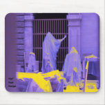 Louvre Scene Mouse Pad