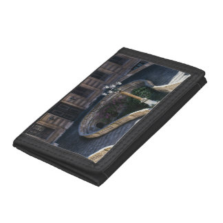Louvre Staircase, Parisian Archtiecture Photograph Tri-fold Wallets
