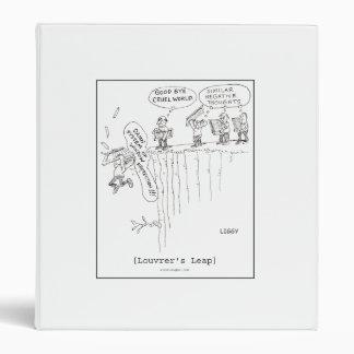 Louvrer's Leap Cartoon Binder