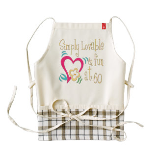 Lovable and Fun 60th Birthday Zazzle HEART Apron