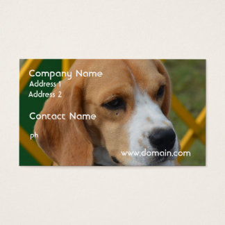Lovable Beagle Business Card