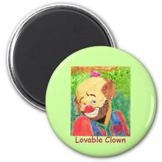 Lovable Clown Magnet