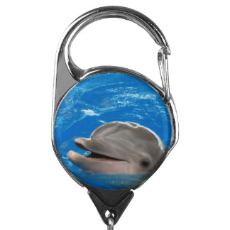 Lovable Dolphin Badge Holder