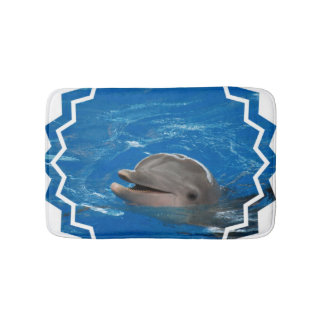 Lovable Dolphin Bathroom Mat
