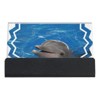 Lovable Dolphin Desk Business Card Holder