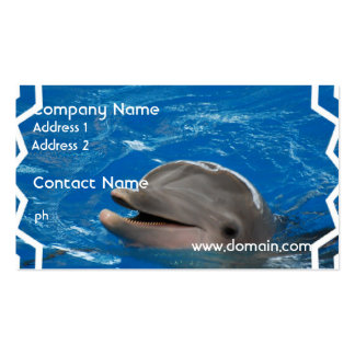 Lovable Dolphin Double-Sided Standard Business Cards (Pack Of 100)