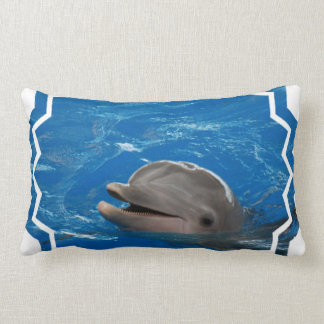 Lovable Dolphin Lumbar Pillow