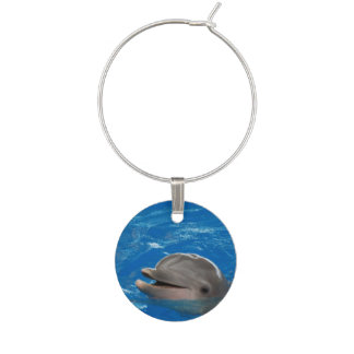 Lovable Dolphin Wine Charm