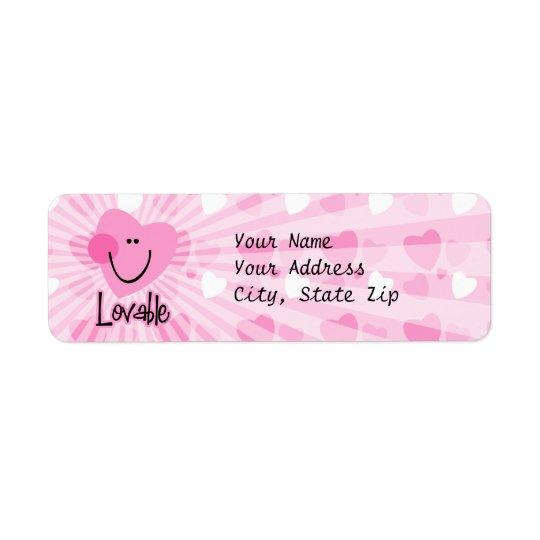 Lovable Heart Label