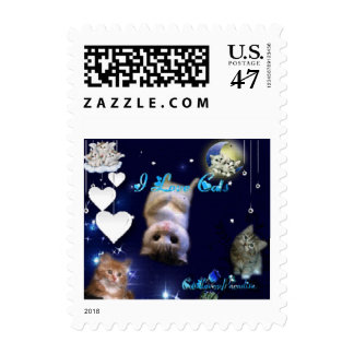 Lovable Kittys Postage Stamp
