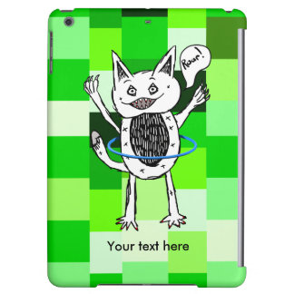 Lovable little monster playing iPad air covers