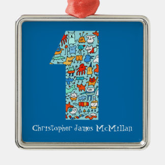 Lovable Little Monsters Number 1 Birthday Ornament