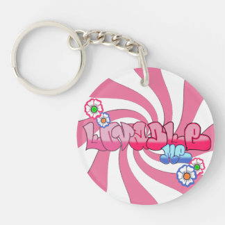 Lovable Me Circle double-sided KeyChain
