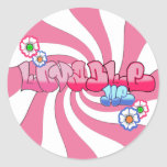 Lovable Me Round Stickers