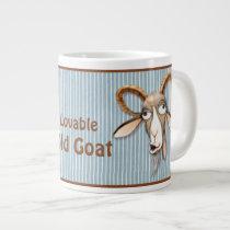 Lovable Old Goat - Customize Giant Coffee Mug