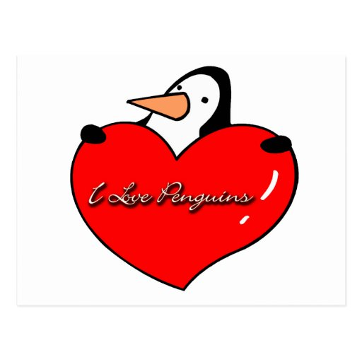 Lovable Penguin Gifts Post Card