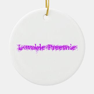 Lovable Preemie round ornament
